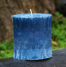 80hr AQUAMARINE & OAKMOSS Ocean Beach Strong SCENTED Oval Candle wedding favors