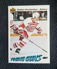 Detroit Red Wings Vladimir Konstantinov 1991 Upper Deck YOUNG GUNS Rookie Card