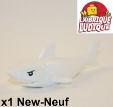 Lego - 1x Animal poisson requin shark blanc/white 14518c01pb01 60095 NEUF
