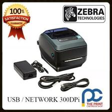Zebra GX430t  Thermal Transfer Docket Printer 300 DPi USB & Network RJ45