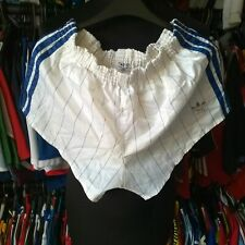WHITE SOCCER FOOTBALL SPRINTER SHORTS 1980S VINTAGE ADIDAS SIZE ADULT M