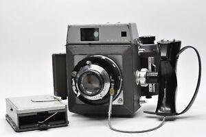 [ EXC + 5] Mamiya press Film Kamera + Sekor 90mm f3.5 Objektiv 6x9 Back Aus