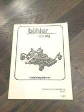 2007 Buhler Farm King Finishing Mower Operators And Parts Manual Fk301