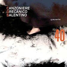 CANZONIERE GRECANICO SALENTINO - QUARANTA  CD NEUF