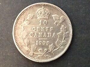 1905 TEN CENT CANADA QUEEN VICTORIA