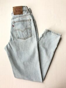 Vtg USA Levis 912 Jeans Womens Sz 11 28 x 31 Mom Slim Fit Tapered Leg Light Wash