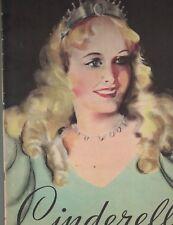 CINDERELLA -A Fairy Story (1935 Whitman) BEAUTIFUL Children's Book