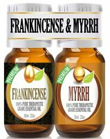 Frankincense and Myrrh Essential Oil Combo Pack 100% Pure Best Therapeutic Gr...
