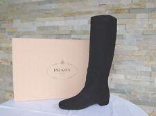 Lujo prada talla 36 botas zapatos 1w290f negro cabra recién ex. PVP 750 €