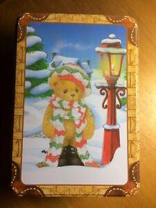 Cherished Teddies DARREN PLUSH & FIGURINE BEARS IN A TIN 784974-A  Free Post
