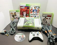 New listing Microsoft Xbox 360 Bundle- 6 Games•Wired Controller•Cables•Hea dset (Tested)