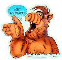 Alf Aufkleber ECHT ALFSTARK ! Sticker 9 cm selbstklebend Folienaufkleber weiss