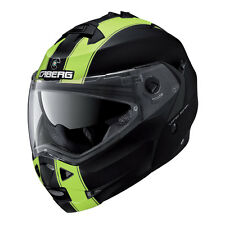 CASCO MODULAR CABERG DUKE II LEGEND MATT BLACK - YELLOW FLUO + PINLOCK TALLA L