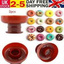 2X DIY Bakery Donut Doughnut Maker Cutter Mold Fondant Cake Bread Desserts Mould