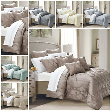 Luxury Quilted Bedspread Bed Throw Double King Size Bedding Set Pillow Cases