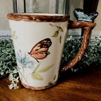 SUSAN WINGET I Cracker Barrel BUTTERFLY Nesting Garden Coffee Tea Mug Cup