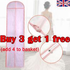180cm Long Wedding Dress Bridal Gown Garment Cover Storage Bag Carrier Zip BG