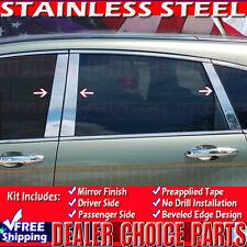 2007 2008 2009 2010 2011 HONDA CRV CR-V Pillar Post 6pc STAINLESS STEEL Chrome
