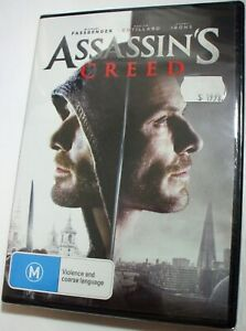 Assassin's Creed : Michael Fassbender Jeremy Irons - new/sealed R4 - posted