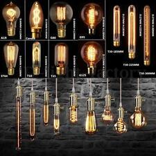 E27/E14/B22 40/60W Vintage Edison Lampe Ampoule Douille Filament Carbone Bulbs