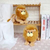 Simulation Lying Lions Animal Plush Stuffed Pillow Huggable Doll Souvenir Gift