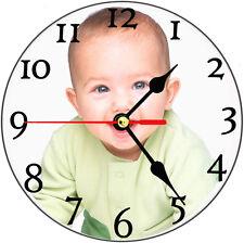 Personalised wall glass clock,fun,gift,present,photo,image,printing,