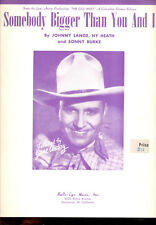 "The Old West Partition de Musique "" Somebody Bigger Than You And I "" Gene Autry"