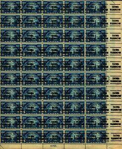 US #616 1924 5c Huguenot-Walloon Sheet. Precancel *Tacoma, WA* OG (CV $3K MNH)