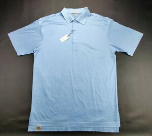 "Peter Millar ""NEW"" Regular Fit Men's Medium Blue Golf Polo Shirt"