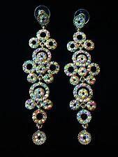 EARRING using Swarovski Crystal Dangle Drop Wedding Bridal Fancy Silver SW20 AB