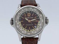 Daniel Jeanrichard Worldscope Wordtime GMT Date Steel Automatic Ref.55122