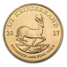 2017 1/2 oz Gold South African Krugerrand Coin Brilliant Uncirculated BU