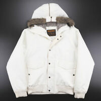 Vintage WOOLRICH White Padded Hooded Parka Puffer Jacket Mens Size XL