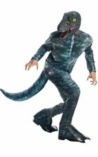 Licensed Jurassic World Velociraptor Blue Adult Mens Dinosaur Halloween Costume