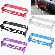 1x Universal Aluminum Front Bumper Adjustable Tilt License Plate Bracket Kit