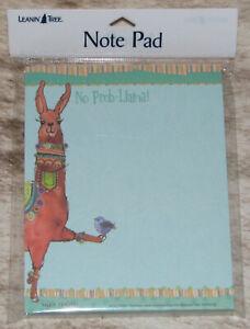 LEANIN TREE No Prob-LLama!~ Happy Llama with Bluebird~Note Pad 60 sheets~#63131