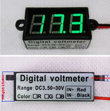 "Micro 0.56""Digital Voltmeter DC3.50-30.0V Motorbike Car Waterproof Dustproof"