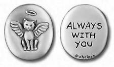Chelsea Pewter Jewelry - Always with You/Angel Cat in Loving Memory Pet Token