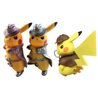 Detective Pokemon Pikachu Figure Doll Toys cool Cute 2019 Pokemon New Movie Set