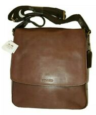 AUTHENTIC COACH LARGE MAHOGANY BROWN MESSENGER MAP CROSSBODY HANDBAG C14767-0943