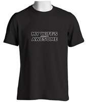 My Wife's Husband Is Awesome Mens Funny T Shirt Novelty Gift Ideas Birthday Xmas