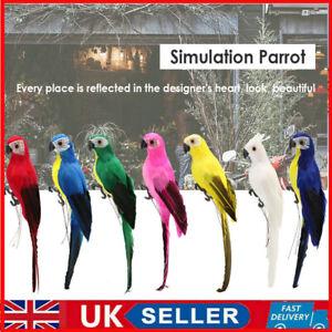 Fake Artificial Parrot Foam Feathered Animal Bird Garden Home Office Decoration