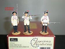 Britains 17541 révolution américaine 18TH français gatinois regiment toy soldier set