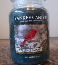 Yankee Candle Sparkling Balsam with Cardinal  22 oz. New SINGLE  Free Shipping.