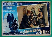 P2 Fotobusta lo Sparviero de Nilo Vittorio Gassman Faruk Gentilomo 12