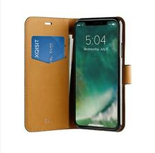 Genuine Xqisit iPhone X 10 Slim Brown Wallet Case Cover For iPhone X - Brown