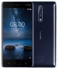 Nokia 8 64GB Blue (Unlocked) Smartphone Brand New