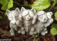 Latex cats mold plaster concrete casting garden rubber mould
