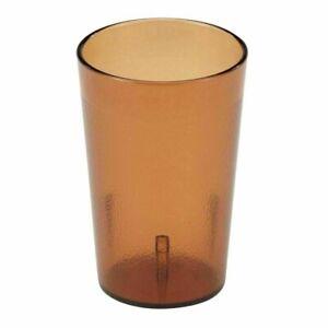 Cambro 800P153 Colorware Amber 7.8 Oz Plastic Tumbler-LOT OF 72