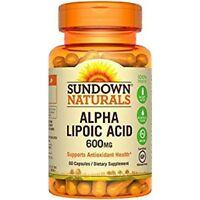 Sundown Alpha Lipoic Acid Capsules, 600 mg, 60 Ct (8 Pack)